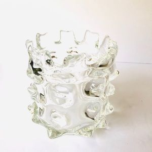 Vintage Funky Abstract Bubble Glass Vase